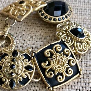Gorgeous Black & Gold Designer Bracelet